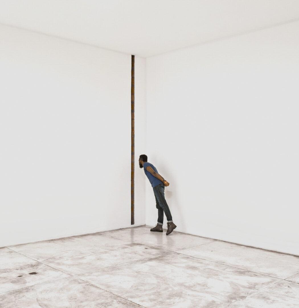 visite Inhotim compre ingressos homem em galeria branca