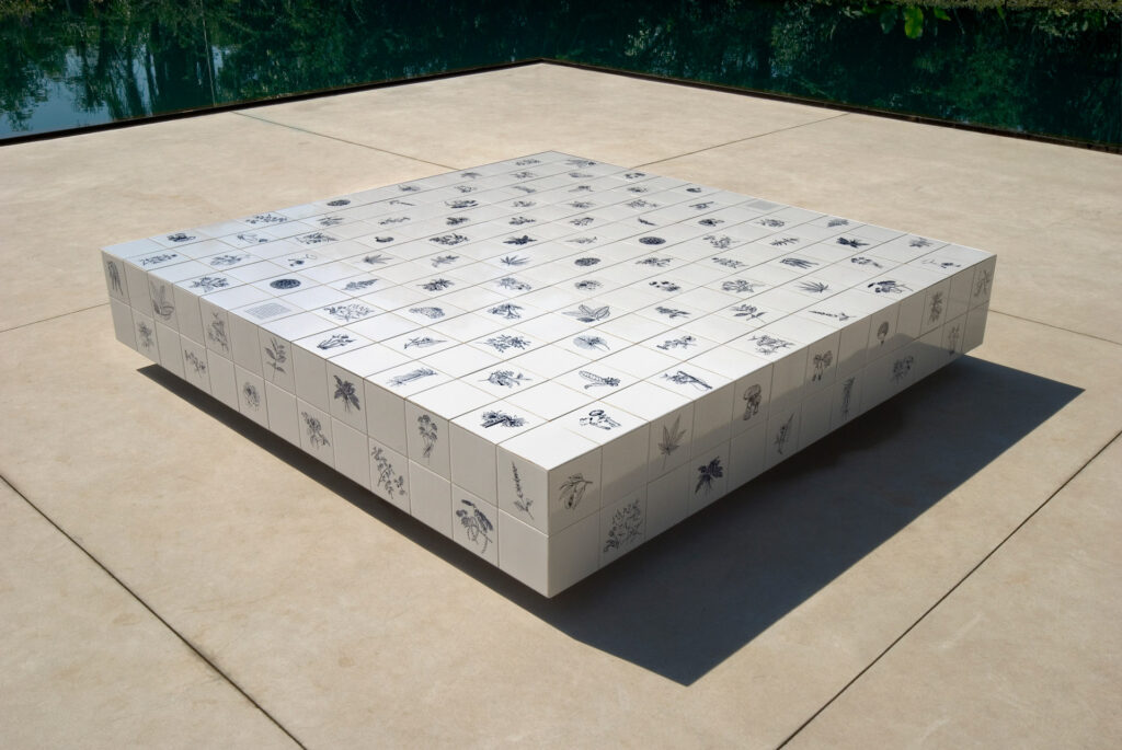 Obra Panacea Phantastica, 2004-08, de Adriana Varejão, Acervo de arte contemporânea Inhotim