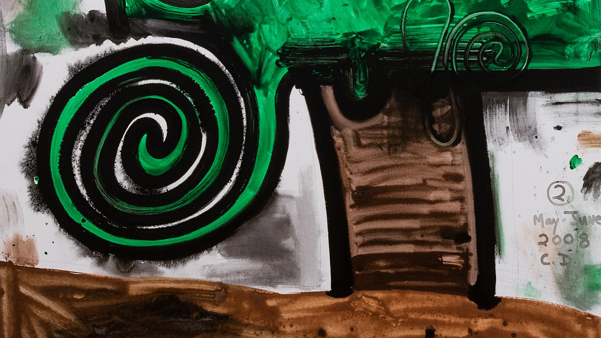 Obra Garden 2 (2008), de Carroll Dunham. Acervo de arte contemporânea do Inhotim