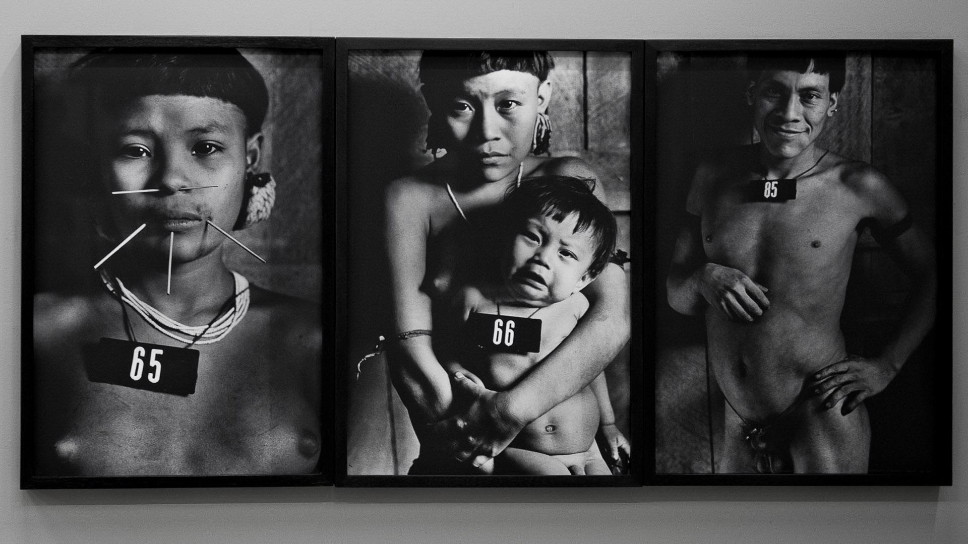 A série Marcados, 1981-83, de Claudia Andujar. Acervo de arte contemporânea do Inhotim