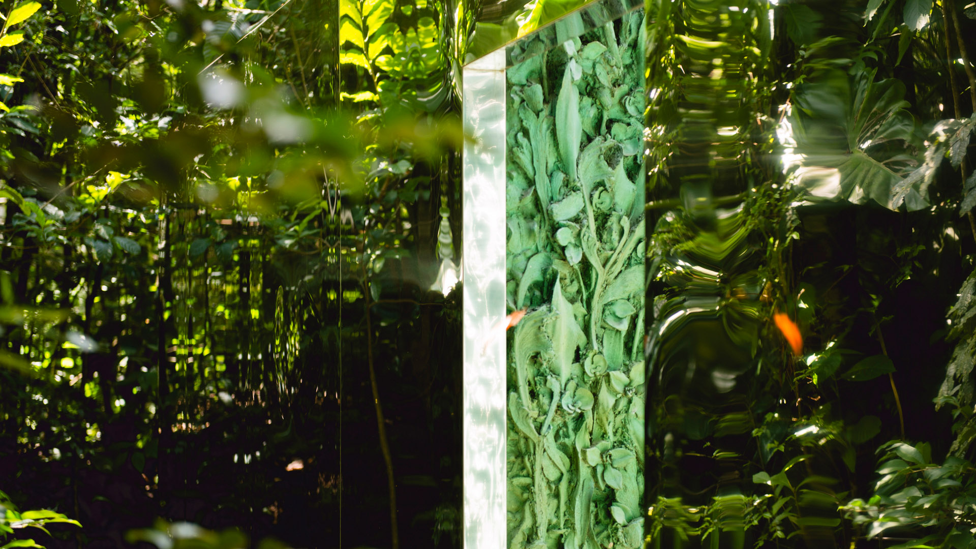 O Vegetation Room Inhotim, 2010-12, da artista Cristina Iglesias. Acervo de arte contemporânea do Inhotim