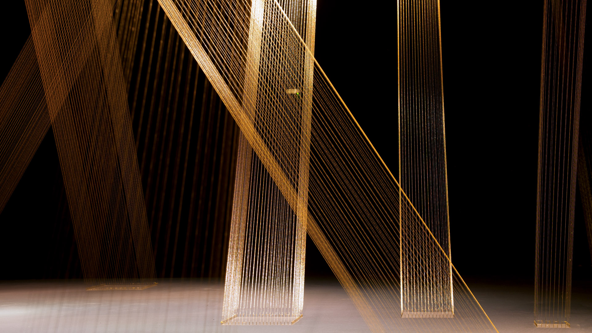 Obra Ttéia 1 C, 2002, de Lygia Pape. Acervo de arte contemporânea do Inhotim
