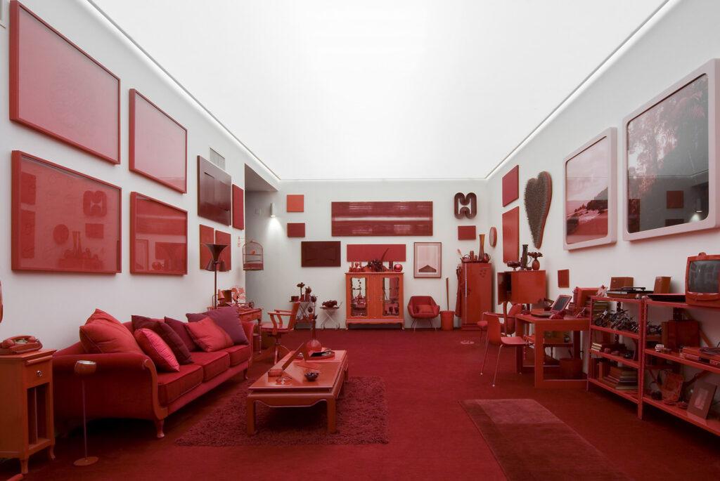 Obra Desvio para o vermelho I: Impregnação, 1967-84, Galeria Cildo Meireles. Acervo Inhotim
