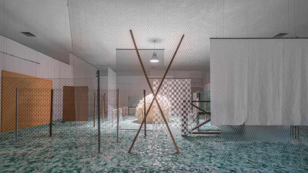 Obra Através, 1983-89, de Cildo Meireles. Galeria Cildo Meireles. Acervo de arte contemporânea Inhotim