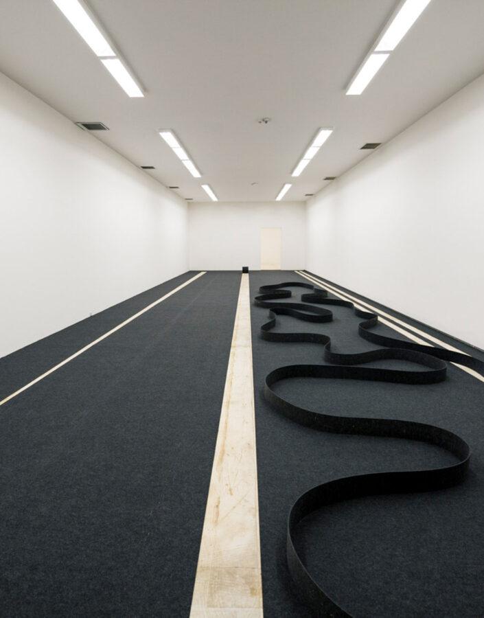 Obra Método para arranque e deslocamento, 1992-93, de José Damasceno na exposição
