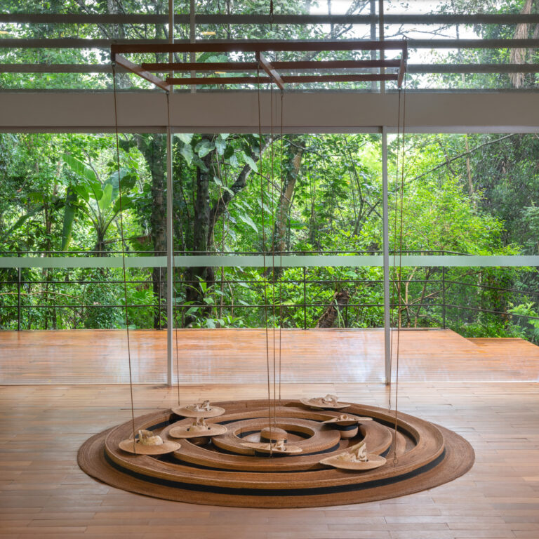 Obra Inside Out, Upside Down, 1998 , de Tunga. Acervo de arte contemporânea Inhotim